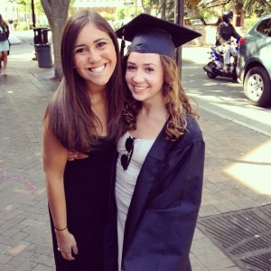 Jess and Sophie at Sophie's graduation